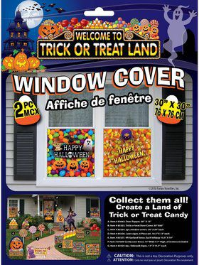Trick Or Treat Land Window Cover Decoration