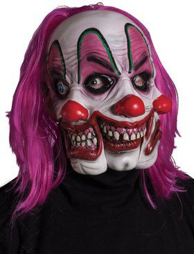 Triple Fright Clown Mask