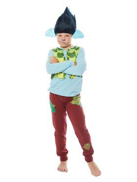 Child's Trolls World Tour Branch Shirt and Pants Costume