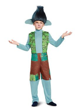 Trolls - Branch Deluxe Child Costume with Wig