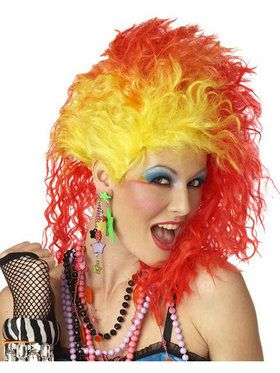 True Colors Red and Yellow Wig Adult