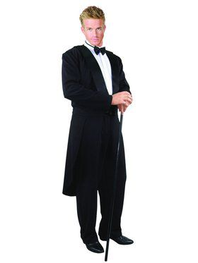 Tux Jacket with Tail, Pants and Tie Adult Costume
