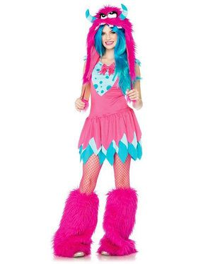 Tween 2 Piece Mischief Monster Child Costume