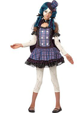 Tween Broken Doll Girl's Costume