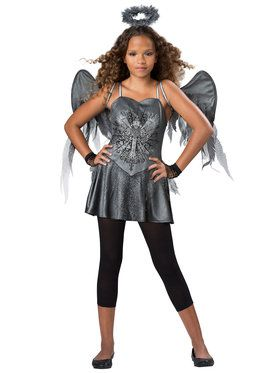 Tween Dark Angel Girl's Costume