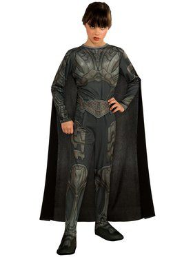 Tween Faora Superman Man of Steel Girls Costume