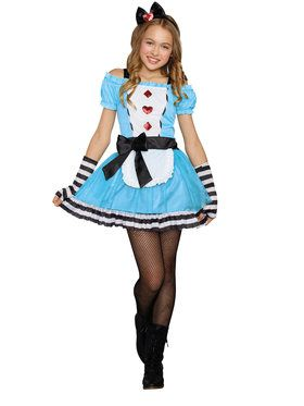 Tween Miss Wonderland Girl's Costume