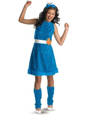 Tween Sesame Street Cookie Monster Costume for Girls