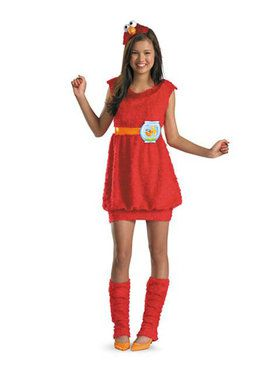 Tween Sesame Street Elmo Costume for Girls