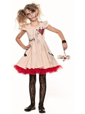 Tween Voodoo Doll Girl's Costume