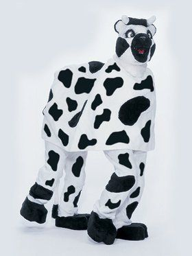 Two Person Cow Mascot Adult's Mascot Costume