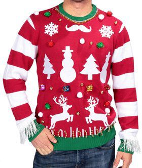 Ugly Christmas Sweater Do It Yourself Kit Men's Costume