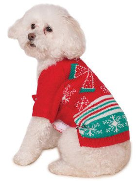 Ugly Christmas Sweater Pet Costume