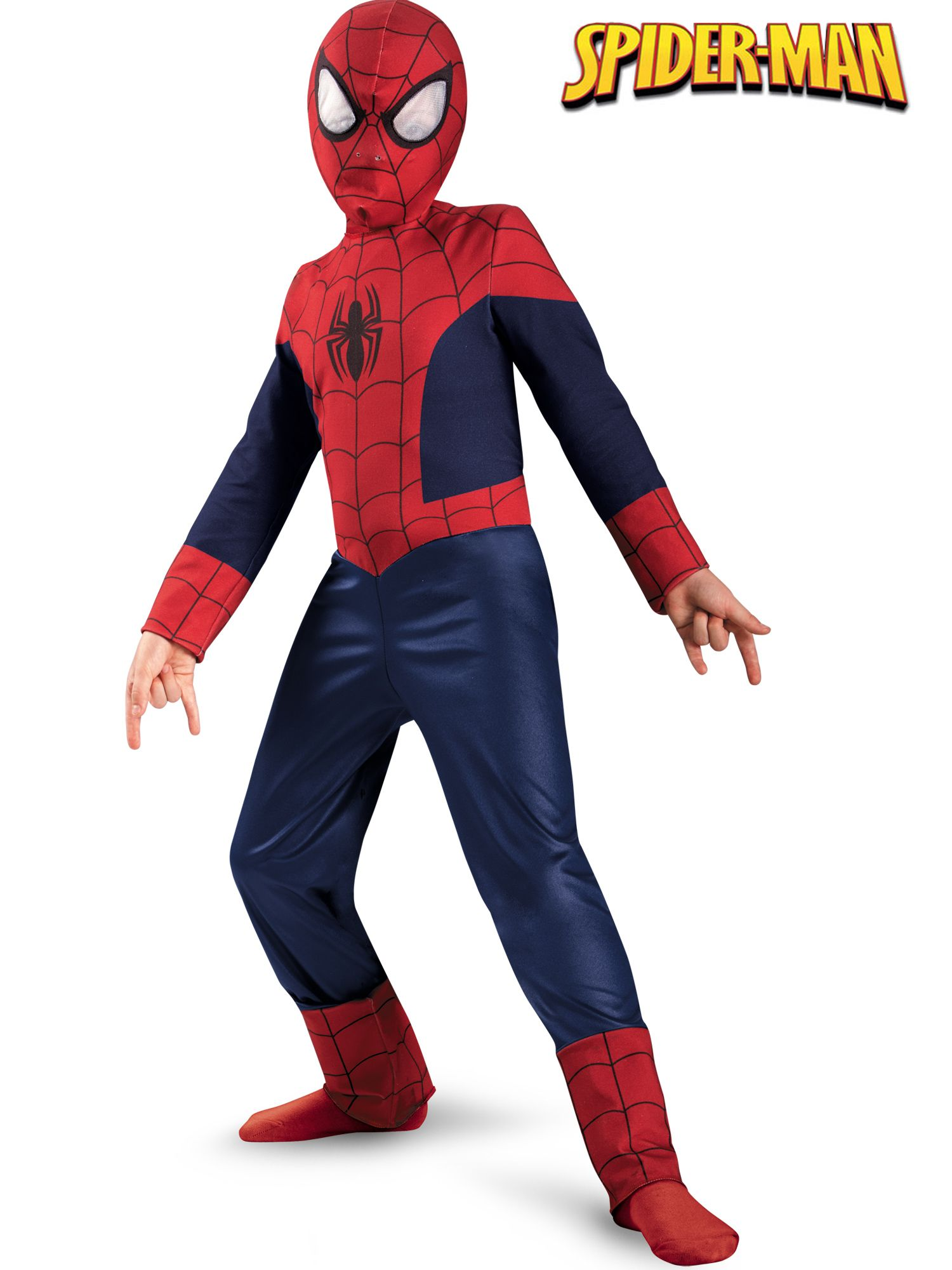 Ultimate Spiderman Classic Costume for Kids DI57710-M