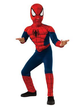 Ultimate Spiderman Muscle Chest Boy's Costume