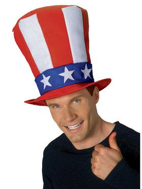 Uncle Sam Stovepipe Hat for Adults