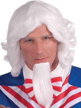 Uncle Sam Beard/Wig Set