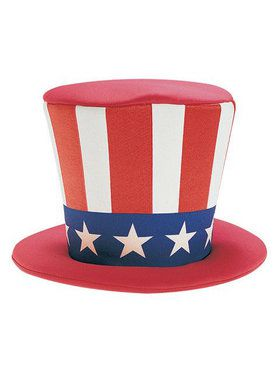 Uncle Sam Foam Top Hat Adult