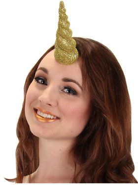 Unicorn Gold Glitter Horn for Adults