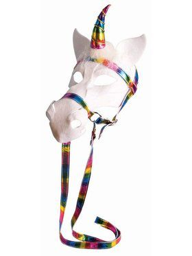 Unicorn Mask With Bridle Accessory