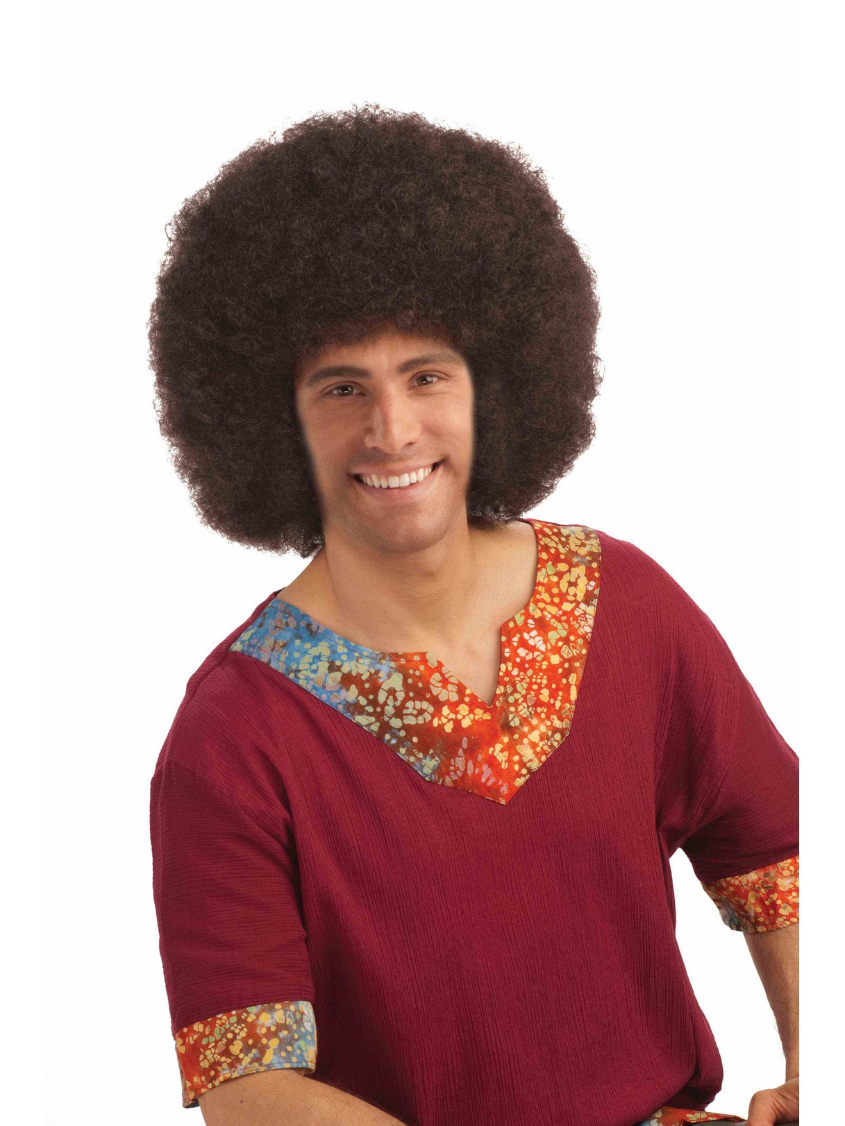 Deluxe Jumbo Brown Afro Unisex Wig For Adults