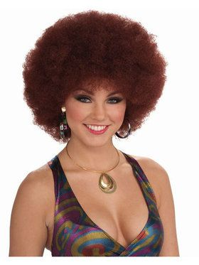 Unisex Deluxe Disco Afro Wig Natural Red Adult