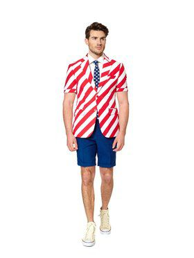 United Stripes Mens Summer Opposuit for Halloween