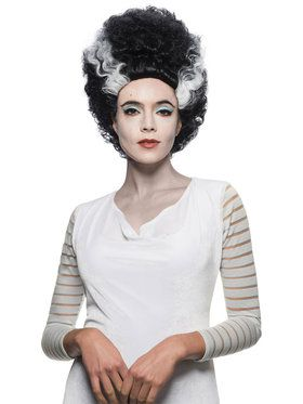 Universal Monsters Bride of Frankenstein Costume Wig for Adults