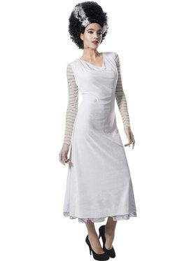 Ladies Bride Of Frankenstein Classic Movie Monster Costume.