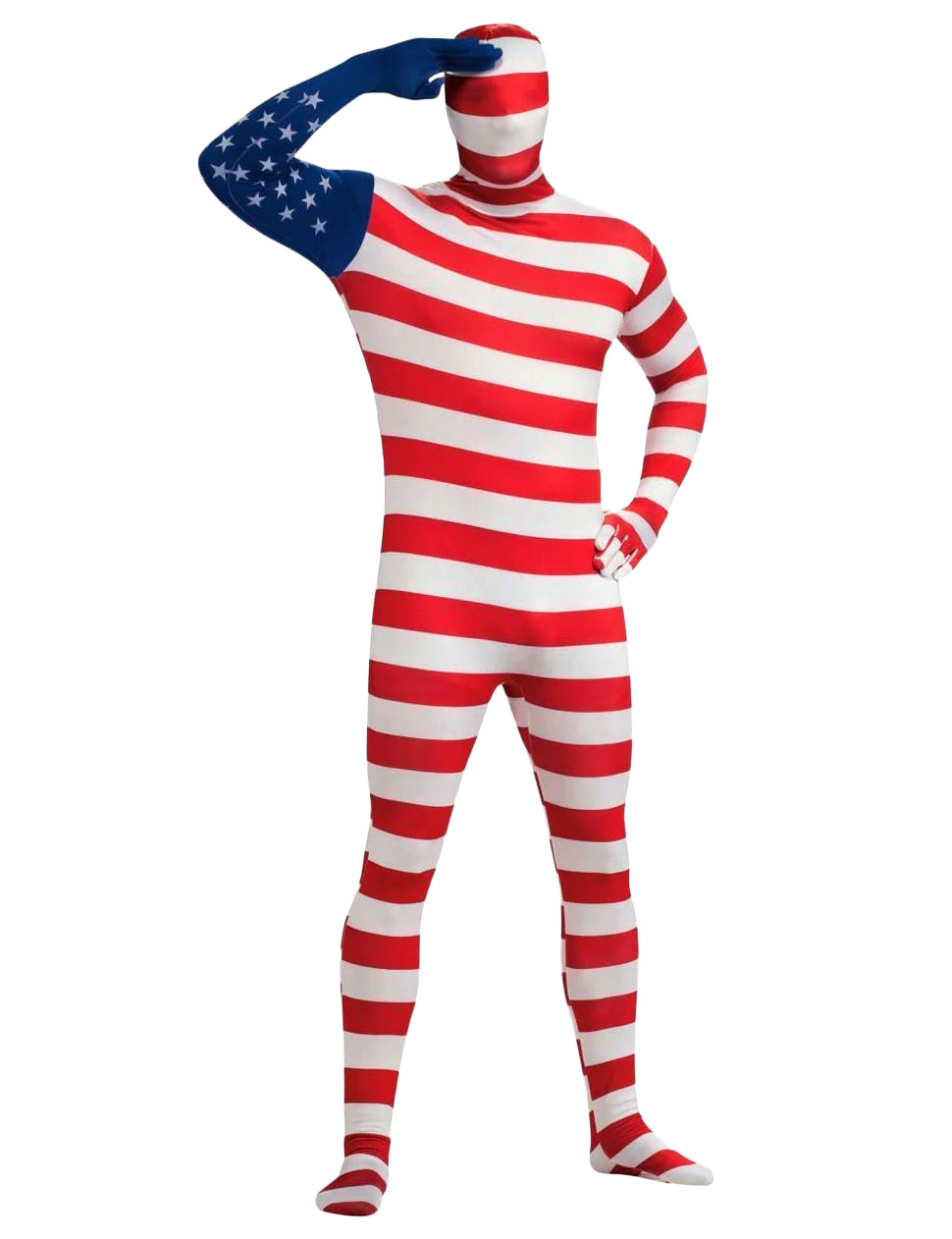 Rubie's Mens Usa Flag Skin Suit Costume