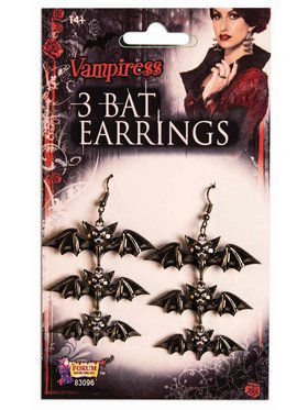 Vampire 3 Bat Accessory Earrings