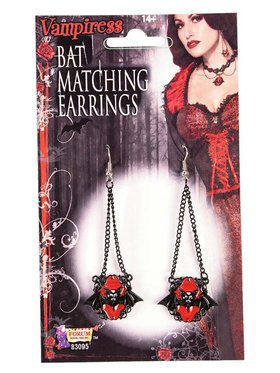 Vampire Bat Accessory Earrings