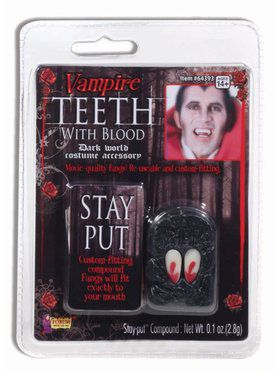 Vampire Fangs With Blood