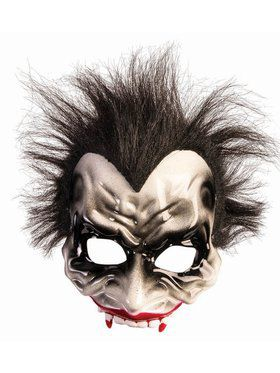 Vampire Half Mask With Hair Accessory