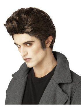 Vampire Love At First Bite Brown Adult Wig
