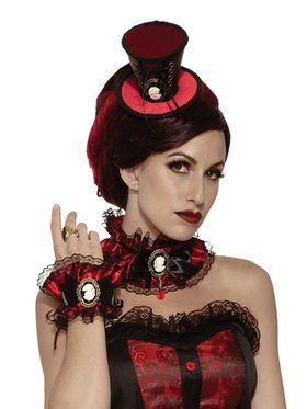 Adult Vampire Victorian Mini Top Hat