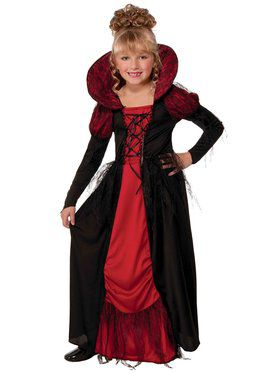 Vampiress Queen Girls Costume
