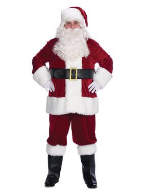 Velvet Complete Santa Costume - For Adults