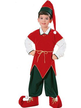 Velvet Elf Costume For Children