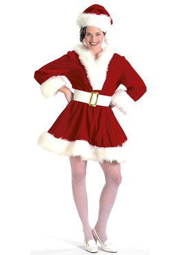 Velvet Mrs. Claus Pixie Adult Costume