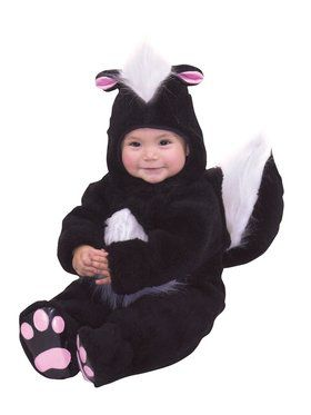 Velvet Panne Skunk Infant Costume