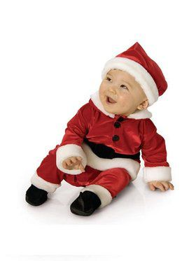 Velvet Santa Jumpsuit Newborn/infant Costume