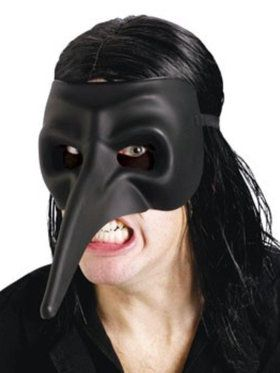 Venetian Raven Black Mask For Adults