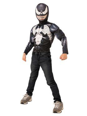 Muscle Chest Venom Shirt Set Costume