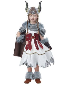 Viking Girl Child Costume