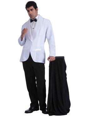 Vintage Hollywood Formal White Jacket Mens Costume