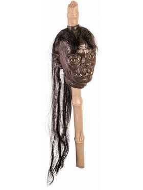 Voodoo Shrunken Head Stake Decoration