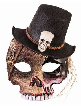 Voodoo Skull Mask Adult With Hat