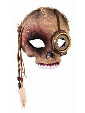 Voodoo Skull Mask Adult With Steampunk Eye