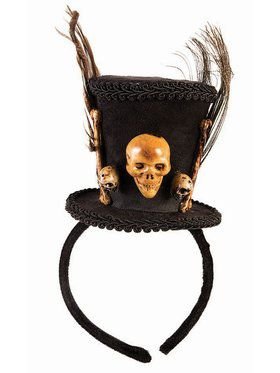 Voodoo Top Hat Headband Accessory